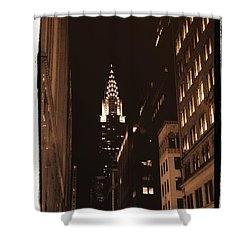 Chrysler Building Shower Curtain by Donna Blackhall