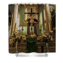 Church Altar Shower Curtain by Aged Pixel