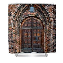 Church Door Shower Curtain by Antony McAulay