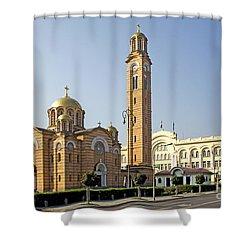 Church Of Jesus The Saviour Shower Curtain by Ladi  Kirn