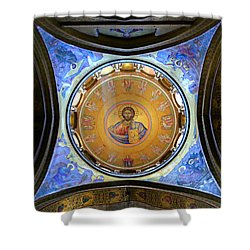 Church Of The Holy Sepulchre Catholicon Shower Curtain by Stephen Stookey