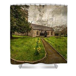 Church Path Shower Curtain by Adrian Evans