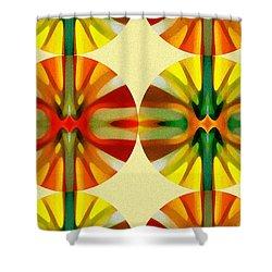 Circle Pattern 3 Shower Curtain by Amy Vangsgard