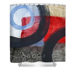 Circles 1 Shower Curtain by Linda Woods