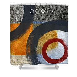 Circles 3 Shower Curtain by Linda Woods