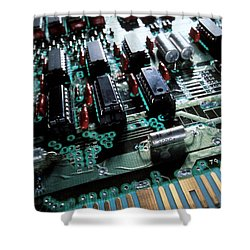 Circuit Board Shower Curtain by Jerry McElroy