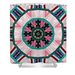Circular Patchwork Art Shower Curtain by Barbara Griffin