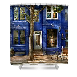 City - Alexandria Va -  Bike - The Urbs Shower Curtain by Mike Savad