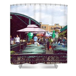 City Market Shower Curtain by Liane Wright