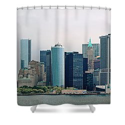 City - Ny - The Financial District Shower Curtain by Mike Savad
