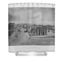 City Of Atlanta 1863 Shower Curtain by War Is Hell Store
