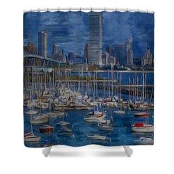City Of Milwaukee Along Lake Michigan Shower Curtain by Jack Zulli