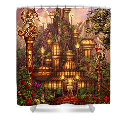 City Of Wands Shower Curtain by Ciro Marchetti