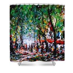 City Promenade Shower Curtain by K McCoy