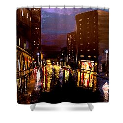 City Rain Shower Curtain by Mark Moore
