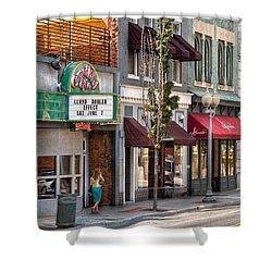 City - Roanoke Va - Down One Fine Street  Shower Curtain by Mike Savad