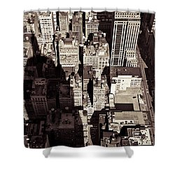 City Shadow Shower Curtain by Dave Bowman