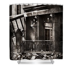 City - South Street Seaport - Bingo 220  Shower Curtain by Mike Savad