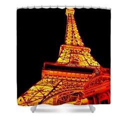 City - Vegas - Paris - Eiffel Tower Restaurant Shower Curtain by Mike Savad
