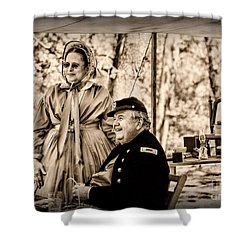 Civil War Officer And Wife Shower Curtain by Paul Ward