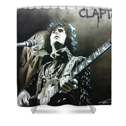Eric Clapton - ' Clapton ' Shower Curtain by Christian Chapman Art