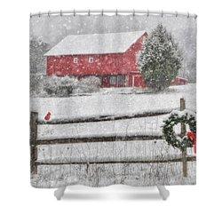 Clarks Valley Christmas 2 Shower Curtain by Lori Deiter