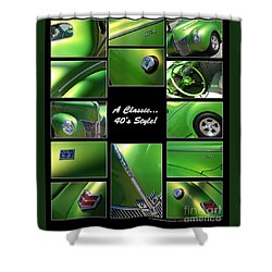 Classic 40s Style - Poster Shower Curtain by Gary Gingrich Galleries