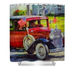 Classic Cars American Tradition Shower Curtain by Dan Sproul