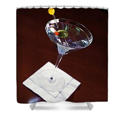 Classic Martini Shower Curtain by Jon Neidert