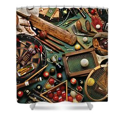 Classic Sports Gear Shower Curtain by Simon Kayne