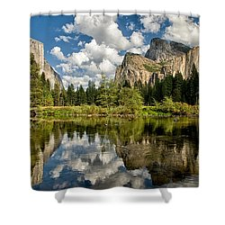 Classic Valley View Shower Curtain by Cat Connor