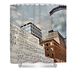 Classical Graffiti Shower Curtain by Kristin Elmquist