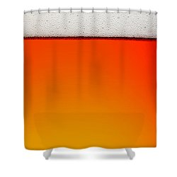 Clean Beer Background Shower Curtain by Johan Swanepoel