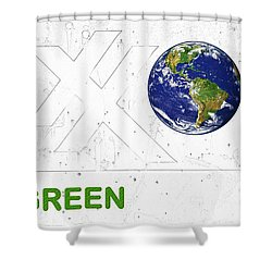 Clean Energy Shower Curtain by John Stephens
