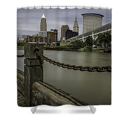 Cleveland Ohio Shower Curtain by James Dean