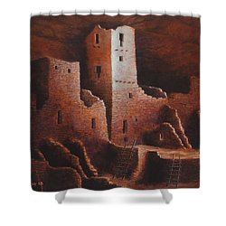Cliff Palace Shower Curtain by Jerry McElroy