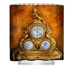 Clockmaker - Anyone Have The Time Shower Curtain by Mike Savad
