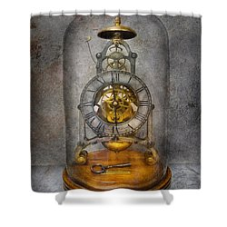 Clocksmith - The Time Capsule Shower Curtain by Mike Savad
