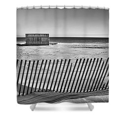 Closed For The Season Shower Curtain by Scott Norris