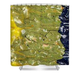 Closeup Of Glazed Ceramics Shower Curtain by Kerstin Ivarsson