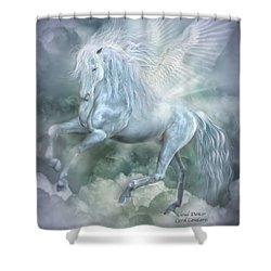 Cloud Dancer Shower Curtain by Carol Cavalaris