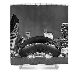 Cloud Gate And Skyline Shower Curtain by Adam Romanowicz