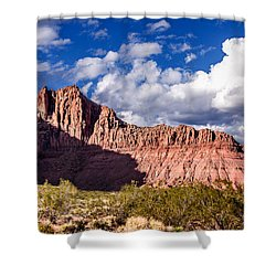 Clouds In Valley Of Fire Shower Curtain by  Onyonet  Photo Studios