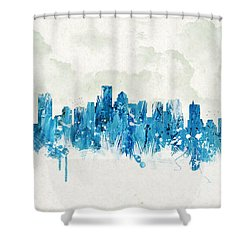 Clouds Over Boston Massachusetts Usa Shower Curtain by Aged Pixel