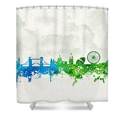 Clouds Over London England Shower Curtain by Aged Pixel