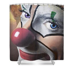 Clown Mural Shower Curtain by Bob Christopher