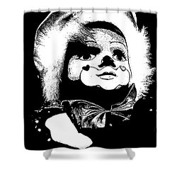 Clowning Around Shower Curtain by Linsey Williams