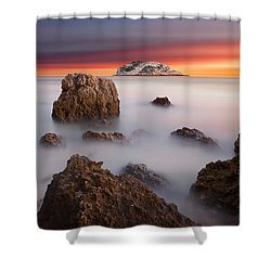 Coastal Glory Shower Curtain by Jorge Maia