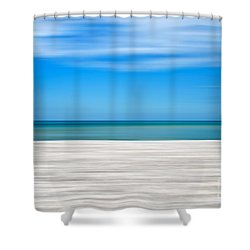Coastal Horizon 10 Shower Curtain by Delphimages Photo Creations