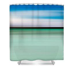 Coastal Horizon 5 Shower Curtain by Delphimages Photo Creations